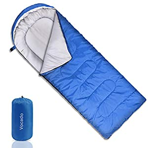 Vocado Sleeping Bag Double Envelope Sleeping Bag Indoor Outdoor Use Portable Lightweight And Compact Sleeping Bags For Kids Adults Teens 3 4 Seasons Camping Hiking Traveling Backpacking