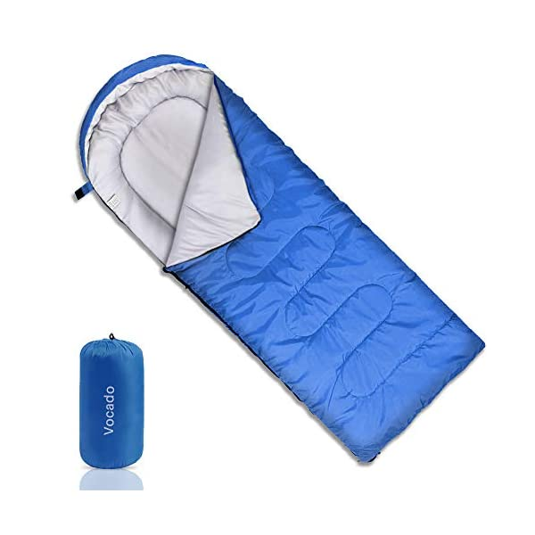 Vocado Sleeping Bag, Double Envelope Sleeping Bag, Indoor & Outdoor Use, Portable, Lightweight and Compact Sleeping Bags for Kids, Adults, Teens, 3-4 Seasons Camping, Hiking, Traveling, Backpacking 3