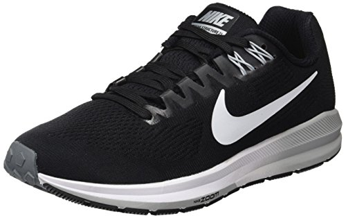 21 Grey cool Running Donna Structure NIKE Air Scarpe wolf 001 Zoom W White Nero Black Grey qnwB77aI