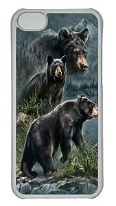 diy phone caseiphone 6 4.7 inch Case,Three Black Bears Custom PC Hard Case Cover for iphone 6 4.7 inch Transparentdiy phone case