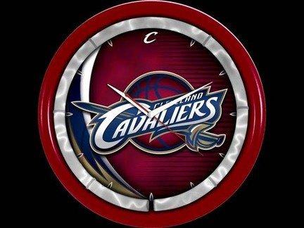 Authentic Street Signs NBA Sports Team Plasma Clock (Cleveland Cavaliers)