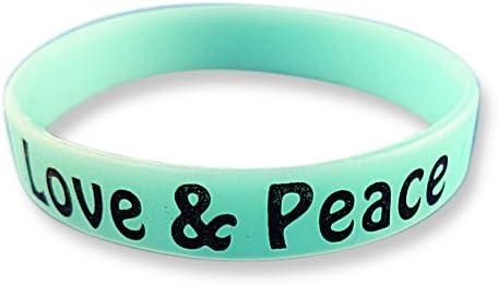 EKNA Set di Fitness Arm Band con iscrizione a Scelta/ /Glow in The Dark Wrist Bands von /Silicone Bracciali in Blu Verde Rosa/