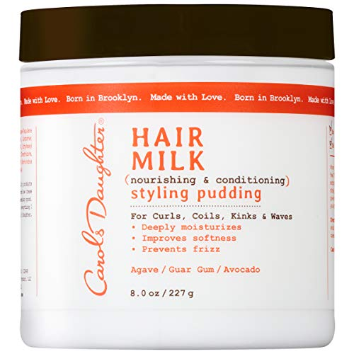 (Curly Hair Products by Carol's Daughter, Hair Milk Styling Pudding For Curls, Coils and Waves, with Agave and Avocado Oil, Paraben Free Defining Curl Cream, 8 oz (Packaging May Vary))
