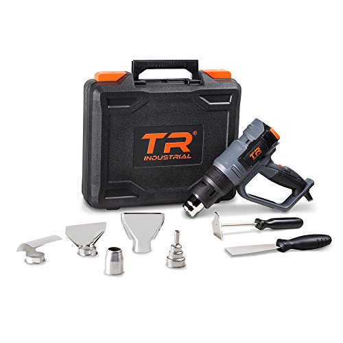 TR Industrial 1700W Digital Heat Gun Kit, Digital Controls with Memory Settings, Large LCD Display -