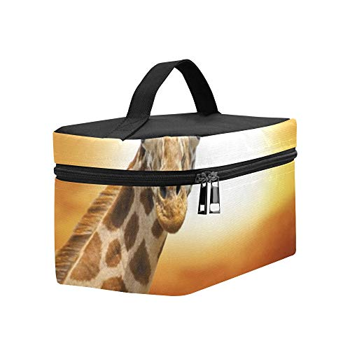 - Giraffe On Sunset Amboseli National Park Lunch Box Tote Bag Lunch Holder Insulated Lunch Cooler Bag For Women/men/picnic/boating/beach/fishing/school/work