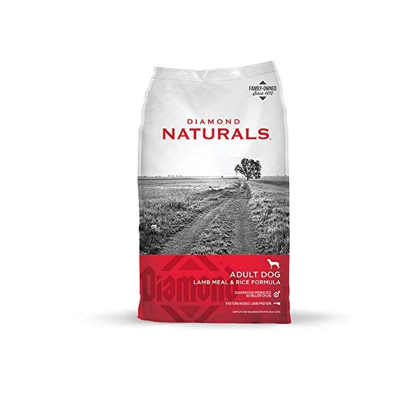 Diamond Naturals Adult Real Meat Recipe Premium Dry Dog Food With Real Pasture Raised Lamb Protein 40Lb