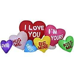 BZB Goods 6 Foot Long Valentine's Day Inflatable Love Hearts, Romantic Sweet Valentines Gift for Couples, Idea LED Lights Decor Outdoor Indoor Holiday Decorations, Blow up Lighted Yard Decor