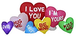 6 Foot Long Valentine's Day Inflatable Love Hearts Cloud...