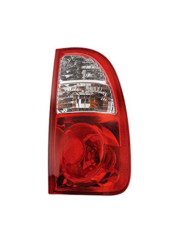 Fits 2005-2006 Toyota Tundra Rear Tail Light Passenger Side TO2801161 w/Regular & Access Cab; w/standard bed; Clear/Red Lens - replaces 81550-0C010