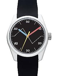Men's 'ECLECTIC' Quartz Plastic and Silicone Casual Watch, Color:Black (Model: 40N4.7BK)