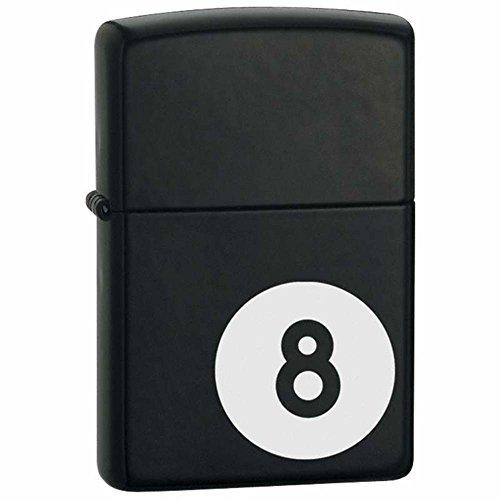 Zippo 8 Ball Black Matte Pocket Lighter