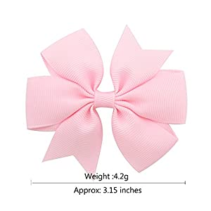 40Pcs 3 inch Solid Color Grosgrain Ribbon Baby Girls Hair Bows Alligator Clips Hair Accessories for Infants Toddlers Kids Teens