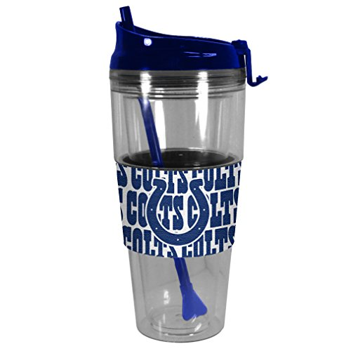 Indianapolis Colts Nfl Tumbler (NFL Indianapolis Colts Premium Bold Straw Tumbler, 28-ounce)
