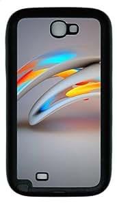 3D Abstract Design TPU Rubber Samsung Galaxy Note 2/ Note II/ N7100 Case Cover - Black WANGJING JINDA