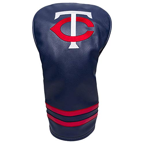 Team Golf MLB Minnesota Twins Vintage Driver Golf Club Headcover, Form Fitting Design, Retro Design & Superb Embroidery