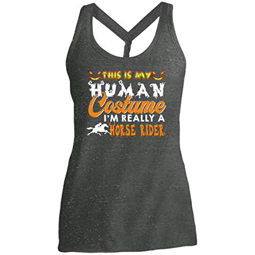 This is My Human Costume I'm Really A Horse Rider Halloween Shirt - Tank Top -