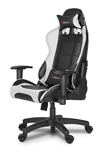 Arozzi Verona Junior Gaming Chair for Kids with High Backrest, Recliner, Swivel, Tilt, Rocker and Seat Height Adjustment, Lumbar and Headrest Pillows Included - White
