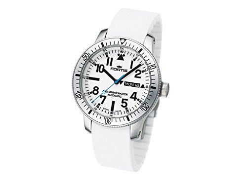 Fortis Men's 647.11.42SI.02 B-42 Marinemaster Automatic White Dial Watch