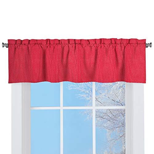 LORRAINE HOME FASHIONS Ribcord Window Curtain Tailored Valance, 54