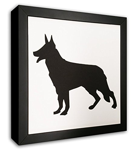 (German Shepherd Photo Mat with Frame - I Love My Shepherd Picture Frame - Dog Frame)