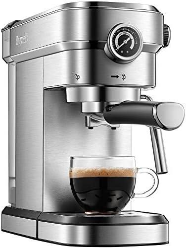 Brewsly 15 Bar Espresso Machine, Stainle