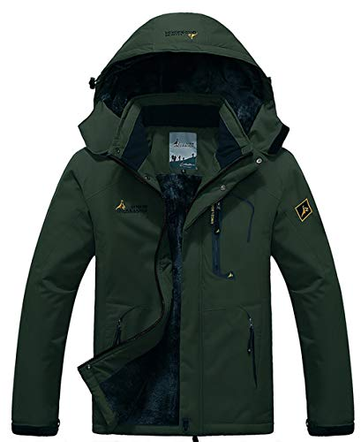 GEMYSE Men's Mountain Waterproof Ski Jacket Windproof Rain Jacket