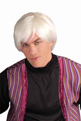 Forum Novelties Men's Andy Warhol Pop Artist Costume Wig, Platinum, One Size
