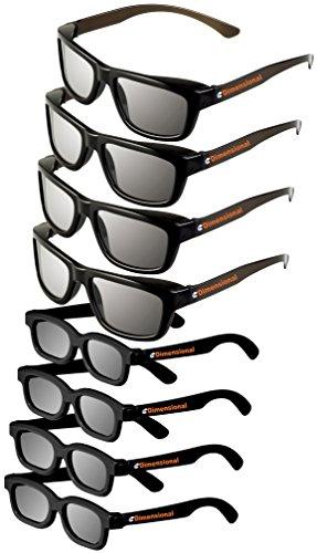 ED (Pack of 8) Sony TDG-500P 3D Glasses Deluxe Family Pack Compatible Passive 3D Glasses!