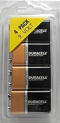 Duracell Mn1604 9 Volt, 4 Pack