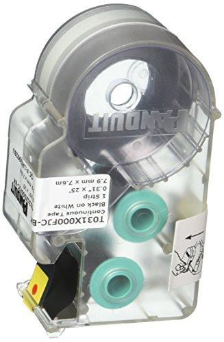 - Panduit T031X000FJC-BK P1 Cassette Continuous Tape Label, Polyolefin, White/Black