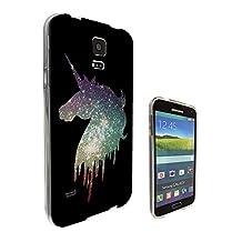 002605 - Sparkle Cool Fun Unicorn Cute Design Samsung Galaxy S5 / Galaxy S5 Neo Fashion Trend CASE Gel Rubber Silicone All Edges Protection Case Cover
