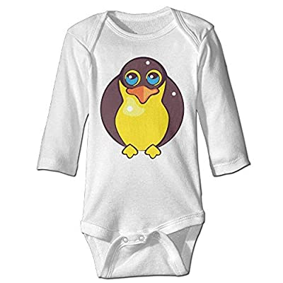 OMYOT Yellow Penguin Newborn Cotton Jumpsuit Romper Bodysuit Onesies Infant Boy Girl Clothes