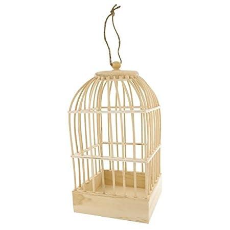 Jaula para pájaros madera: Amazon.es: Hogar