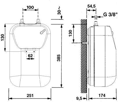 ARISTON Kleinspeicher Typ ARKS 5 U Untertisch Untertischger/ät 5 Liter