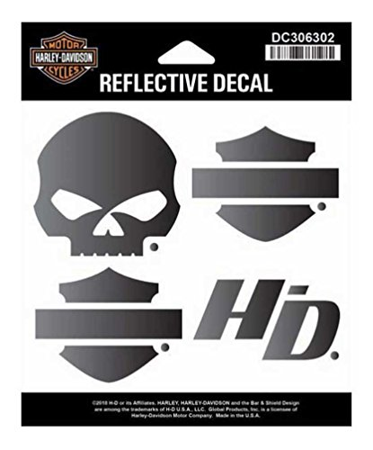 Harley-Davidson Night Rider Reflective Logo Decal Set, SM Size DC306302