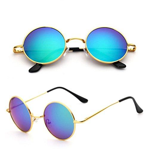Conducción Sol Hipster Personalidad B Hombres Gafas De Redondo Gafas Del Retro De Color Conducción Los Reflexiva Circular De Sol Gafas Marco A Cara De Redonda Conductor GAOYANG OwqWARTtw
