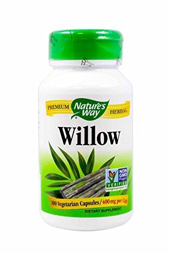 Nature's Way Willow 100 Veg. Caps (Pack of 2) (White Willow Bark 100 Caps)