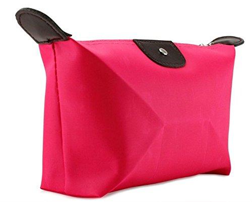 KiraShan - Small Nylon Zipper Cosmetic Clutch Travel Bag Case Organizer Storage Hand Bag - Great for Travel Gym School Supplies Home Make Up Crafts