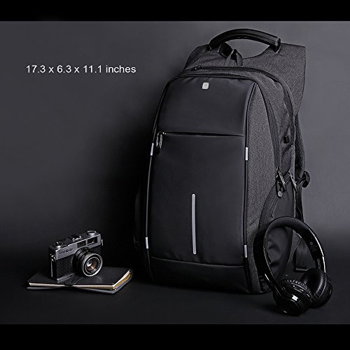 Business Laptop Backpack, HiOrange Travel Anti Theft Computer Backpack with USB Charging Port, Waterproof Night Light Reflective College school bag for Women & Men Fits 15.6 Inch Laptop and Notebook by HiOrange (Image #7)