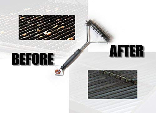 Sody Products/® Grillb/ürste zur Reinigung Ihres Gas Grillreiniger f/ür Grillrost Holzkohle Elektrogrill Edelstahl Grillzubeh/ör
