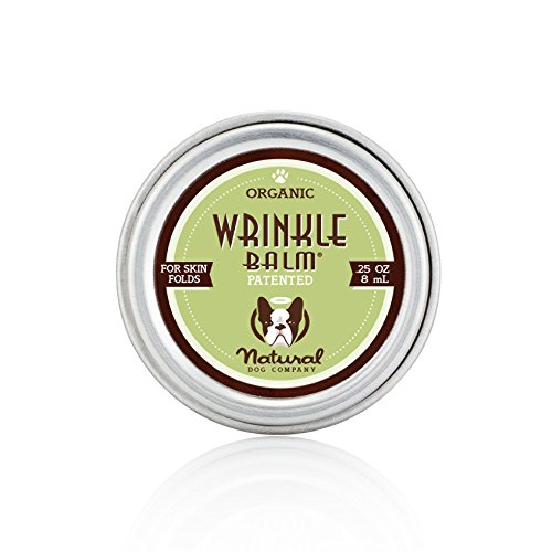 Natural Dog Company Wrinkle Balm Travel Tin | Organic, All-Natural Ingredients Balms and Scent-Free | Dog Skin Fold Dermatitis - 0.25 Oz