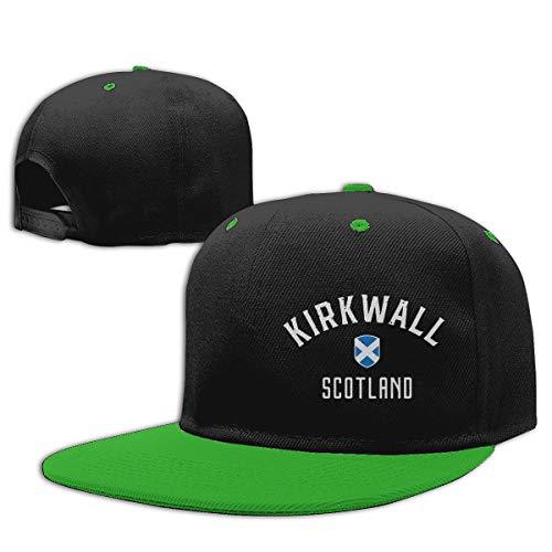 EG93i-05 Kids' Lightweight Hip Hop Baseball Cap Kirkwall Scotland Cotton Golf Cap Green