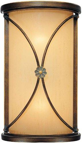 Minka Lavery Wall Sconce Lighting 6231-288, Atterbury Glass Wall Lamp Fixture, 2 Light, 120 Watts, Bronze