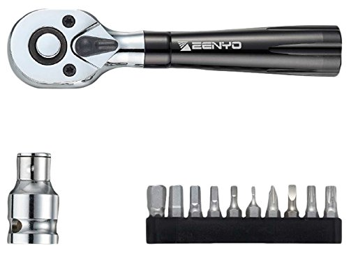 Zenyo ZR10A 10 Bit Ratcheting Screwdriver with 3/8'' Adapter