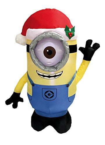 Hinchable Navidad Minion con LED Iluminación Efecto: Amazon.es: Hogar