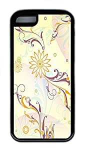 for iphone 4/4s Case Floral Pattern TPU for iphone 4/4s Case Cover Black