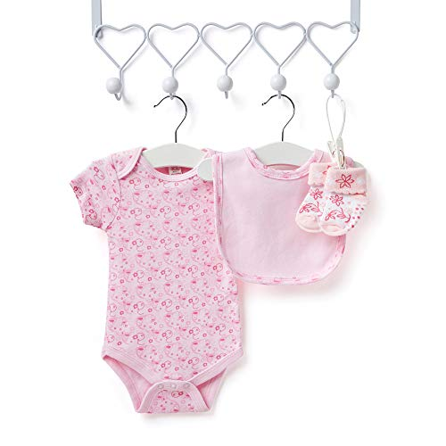 Baby Gift Set – Keepsake Box in Pink with Baby Clothes, Teddy Bear and Gifts for a Baby Girl