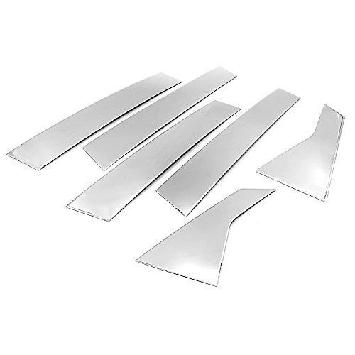 (SIZVER Polished Stainless Steel Pillar Posts Accent Covers For 2016-2018 Honda Civic Sedan Only )