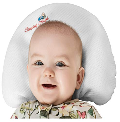 - Baby Head Shaping Pillow with 2 Bamboo Pillowcases for Newborns prevent flat head syndrome (Plagiocephaly),Rolling Over. Made of Premium Memory Foam Perfect Shower Gift.
