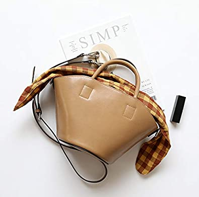 Popular Genuine Leather Handbags Fashion Women Tote Bags Cow Skin Bucket Bag Cow Leather Shoulder Bag